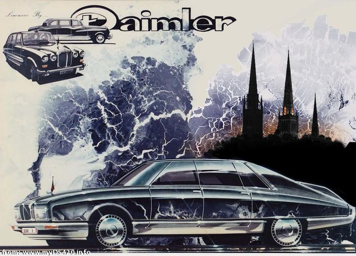 new Daimler limo by Cliff Ruddell