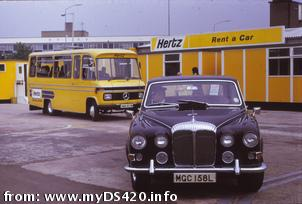 Hertz Daimler Hire in London, 1974