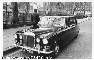 Daimler Hire limo in London
